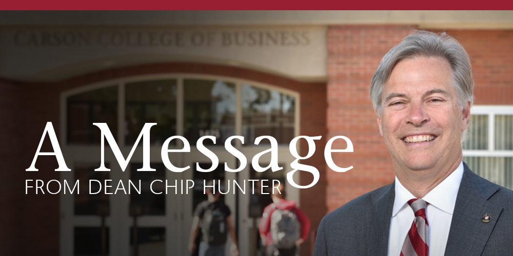 A Message from Dean Chip Hunter