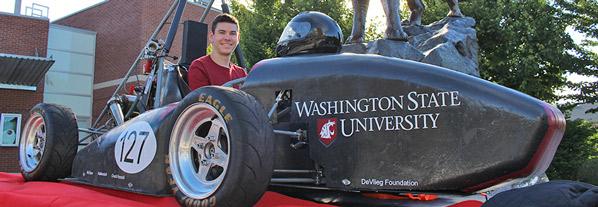 Kory O'Connor with race car