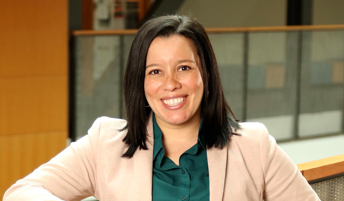 Closeup of Kelly Alvarado-Young.
