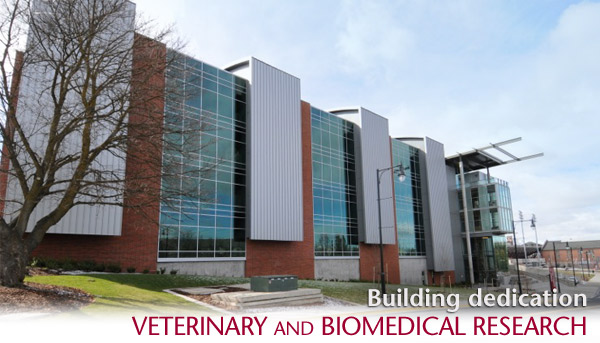 Dedication of Veterinary and Biomedical Research Building - May 2