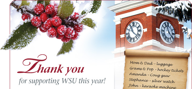 Thank you for supporting WSU this year!